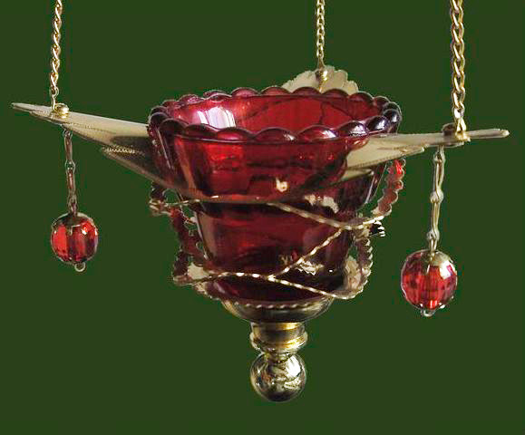 """Лампада для храма подвесная """"Крыло Ангела"""""""