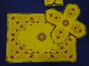 Покровцы с воздухом комплект для батюшки (желтые)