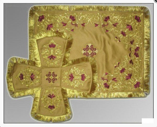 Покровцы с воздухом комплект для батюшки (золото)