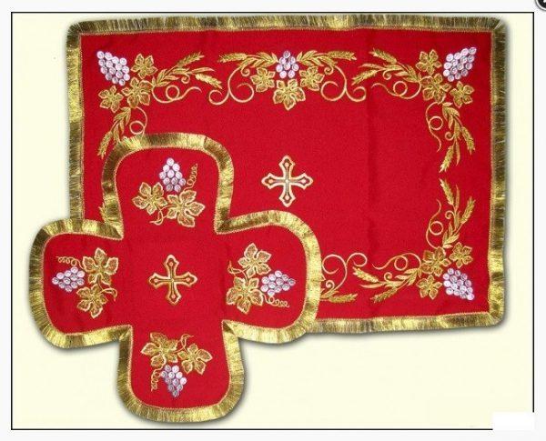 Покровцы с воздухом комплект церковный (красные)