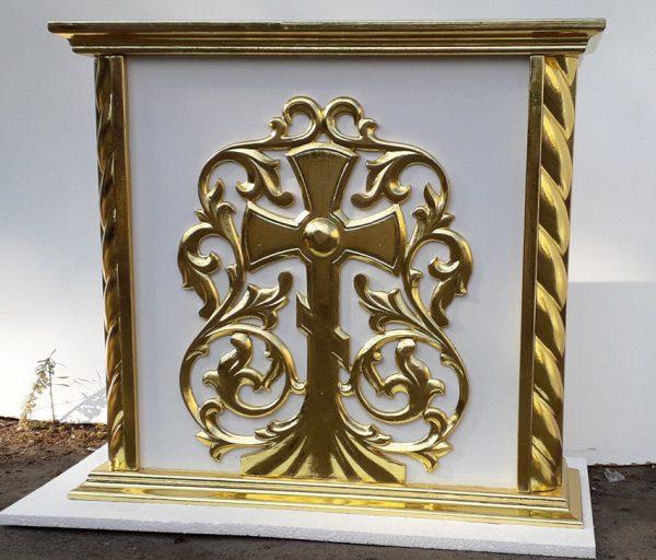 Подставка под выносную икону из дерева с позолотой
