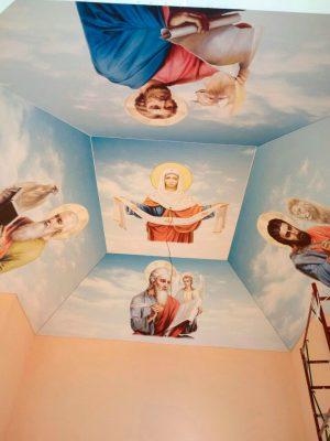 Натяжной потолок в церкви г.Кропивницкий