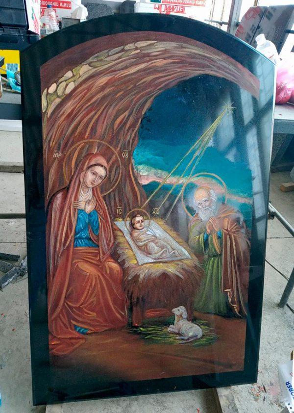 Икона на камне Рождество Христово (спецзаказ)
