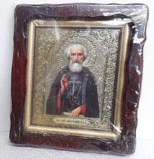 Икона Сергия Радонежского 35х30см