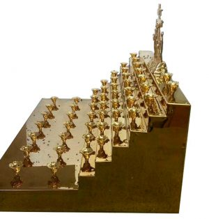 """Панахидный столик """"горка"""" 49 свечей"""