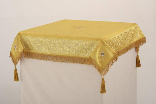 Скатерть вышитая на престол или жертвенник (золото)