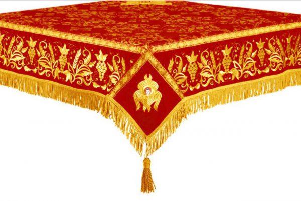 Скатерть на престол или жертвенник (красное с желтым)