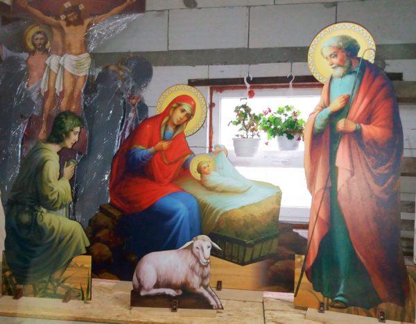 Набор фигур на Рождество Христово для оформления внутри Храма (высота 120см)