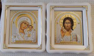 Иконы Венчальная пара Пресвятая Богородица и Спаситель 21х24см
