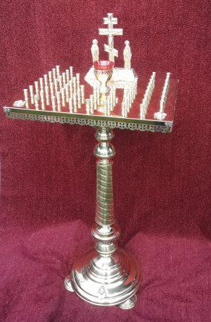 Панихидный стол на ножке на разное количество свечей
