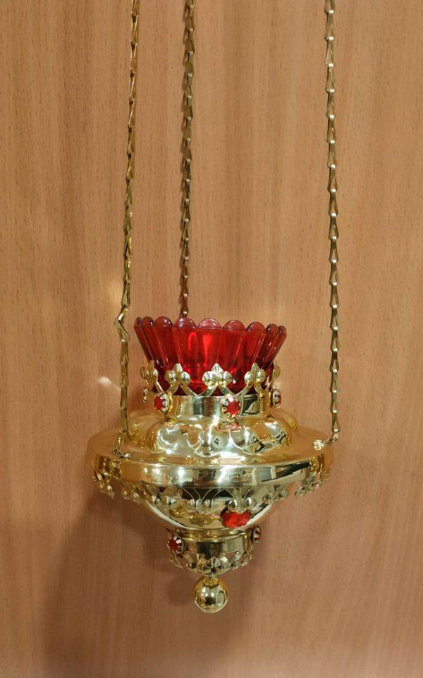 Лампада круглая подвесная из латуни