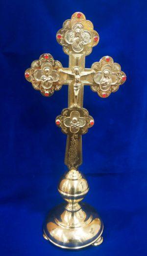 Крест напрестольный средний с гравировкой и камнями