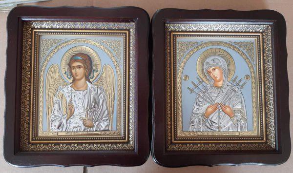 Икона Святые Ангел Хранитель и Пр.Богородица 23х26см
