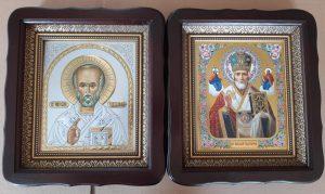 Икона церковная Николай Чудотворец (в митре и без) 23х26см