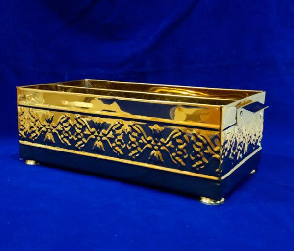 Ящик для огарков 30 на 15 см (булат с чеканкой)