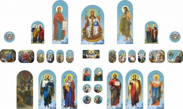 Создание макетов икон для иконостасов и изготовление самих икон