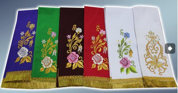 Закладка в Евангелие с вышивкой узора