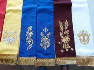 Закладка в Евангелие с вышивкой габардин