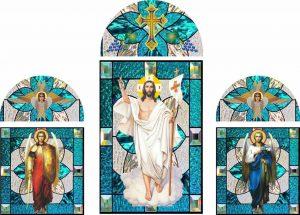 Витражи на заказ на оракале (изготовление макетов для церкви)