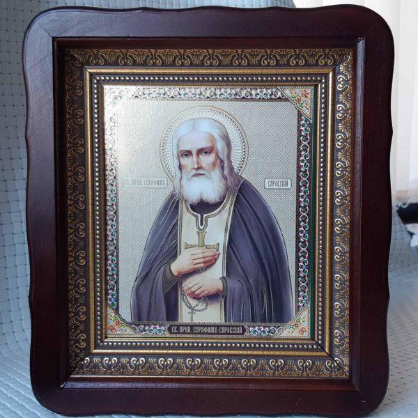 Икона церковная  Серафима Саровского 23х26см