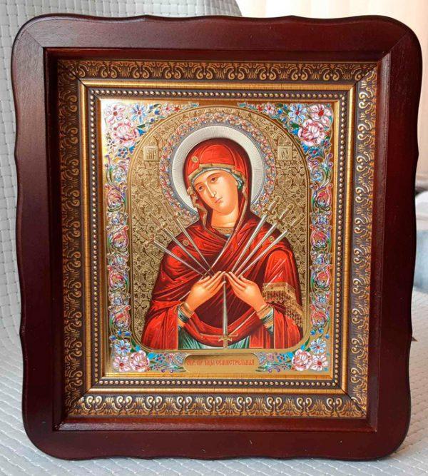 Семистрельная Пресвятой Богородицы икона 23x26cm