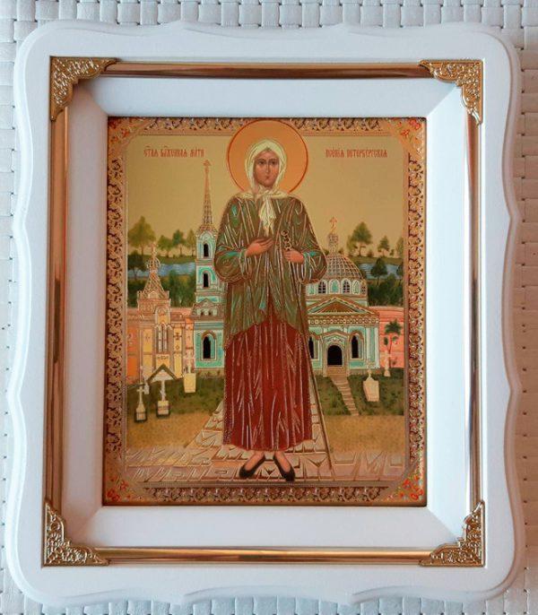 Икона святой Ксении ростовая 21х24см