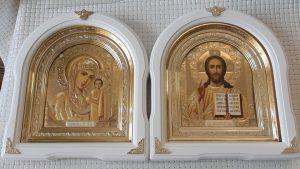 Венчальная пара иконы арочные 26*29см