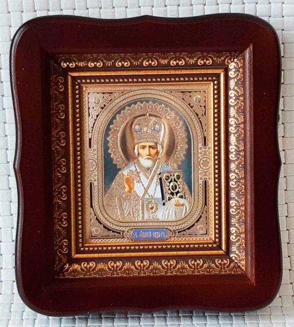 Икона Николай Чудотворец (в митре и без) 23х26см