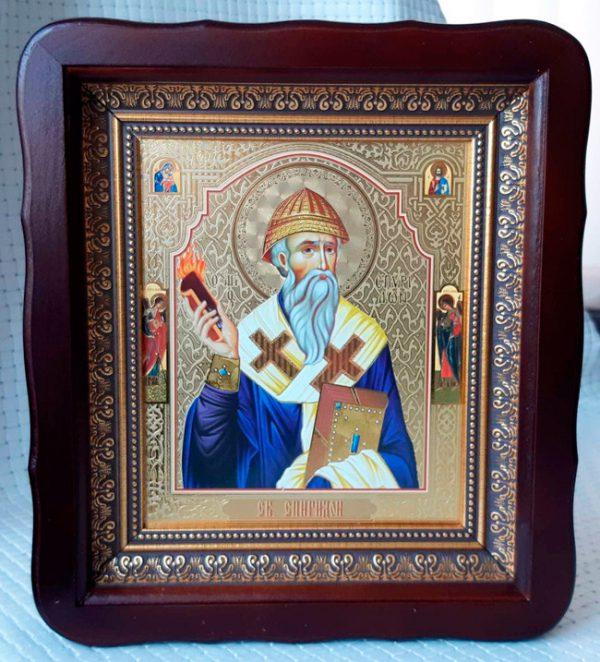 Икона Святитель Спиридон Тримифунтский 23*26см