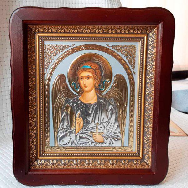 Икона Ангела Хранителя 23х26см киот из дерева