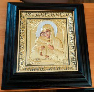 Икона Владимирская Богородицы риза 55х50см