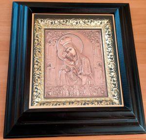 Почаевская Пресвятая Богородица икона 55х50см