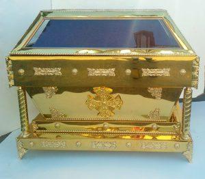 Гробница из булата под плащаницу Спасителя с литьем
