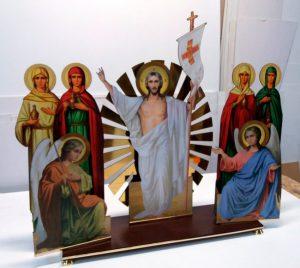 Воскресение Христово среднее 80х90см