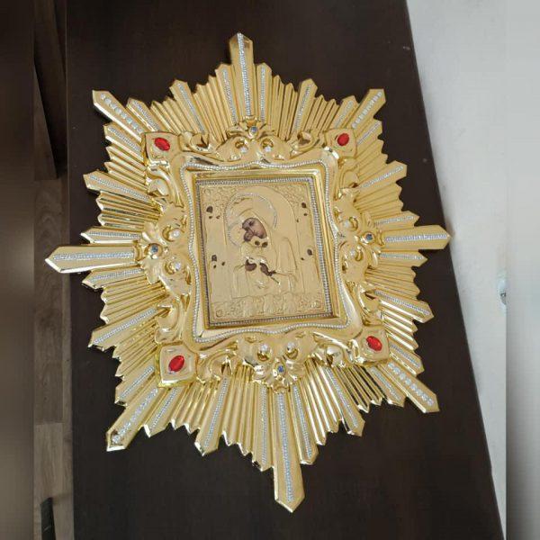 Икона спускная Пресвятой Богородицы (дерево