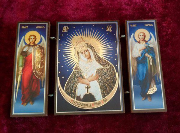 Икона-складень Остробрамская Пресвятая Богородица