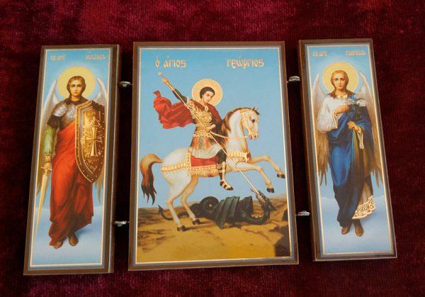 Икона-тройник Св. Георгий Победоносец