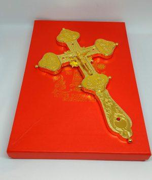 Крест распятие из металла с золочением