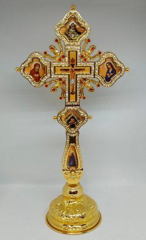 Крест священника на подставке с камнями (Греция)