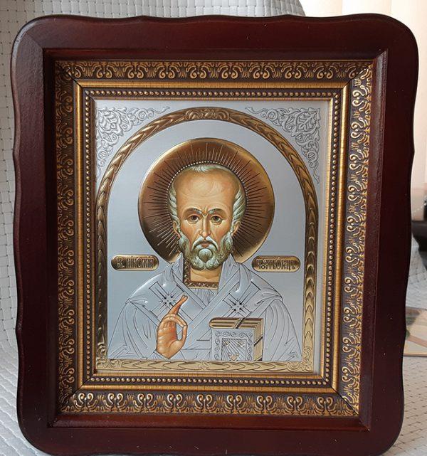 Икона домашняя Николай Чудотворец для дома 23х26см