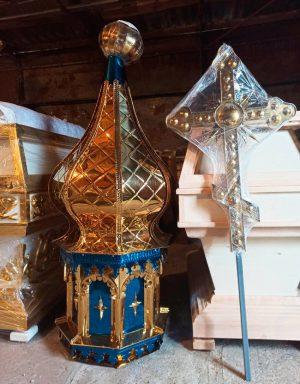 Купол для церкви с тиснением по нитрид титану d/60cm