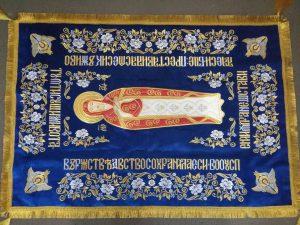 Плащаница церковная Богородицы средняя 120*80см