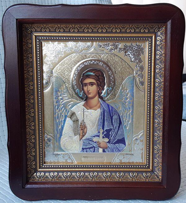 Икона Ангела Хранителя 23х26см киот из дерева со стеклом