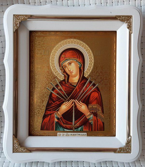 """Икона Божией Матери """"Семистрельная"""" 21*24см"""