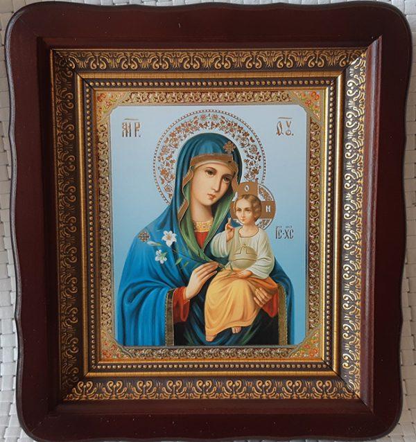 Икона Богородицы «Неувядаемый Цвет» для дома 23*26cm