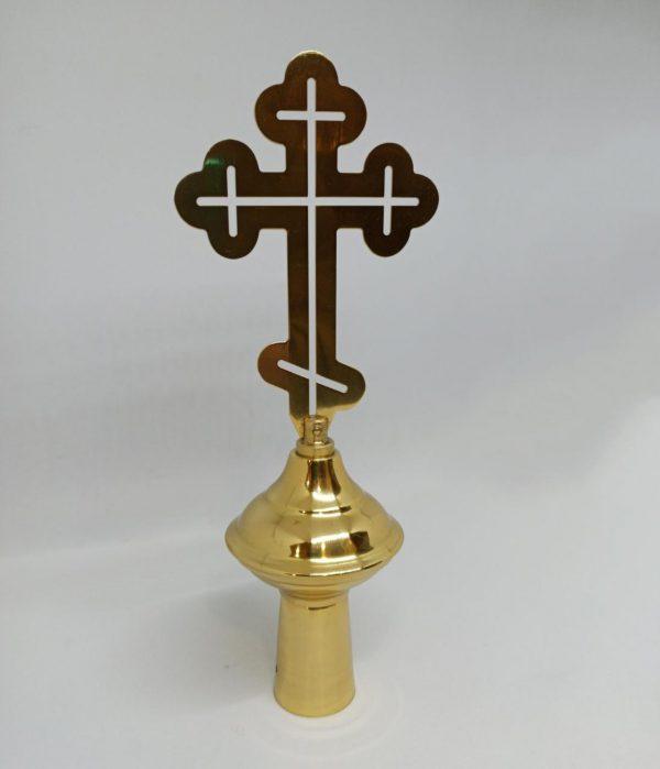 Наконечник на хоругви латунный с крестом
