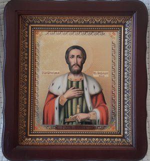 Икона князь Александр Невский 23х26см