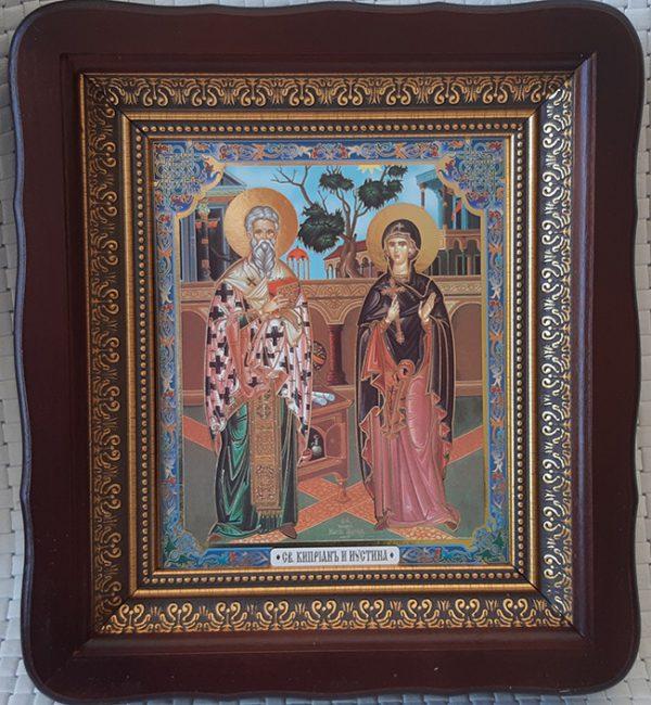 Икона Киприан и Устинья 23х26см