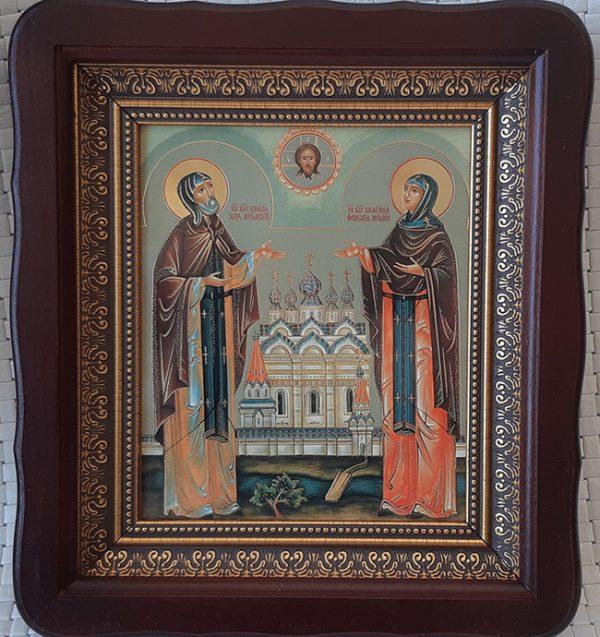 Петр и Феврония (покровители семьи и брака) икона святых 23х26см