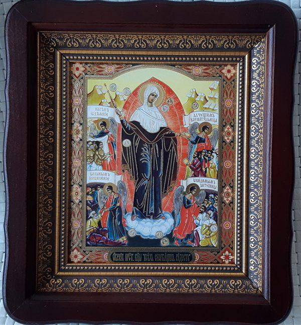 """Икона Божией Матери """"Всех скорбящих Радость"""" для дома 23*26cm"""